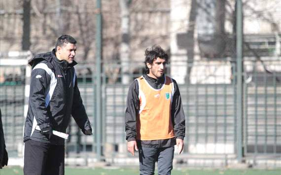 Ali Daei, the former captain of Team Melli and the current head coach of Tehran based club Rah Ahan FC