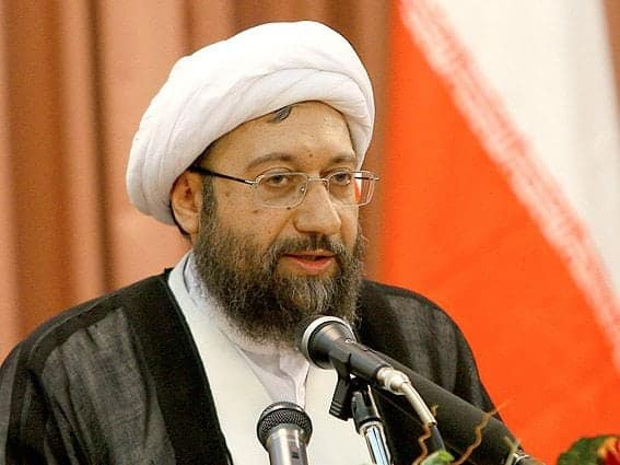 Sadeq Larijani Praised the Exemplary Role of Ali Khamenei in Suppressing Protests in Iran