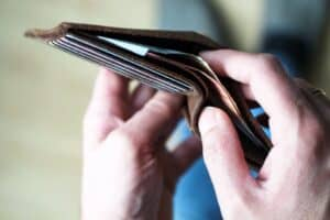 Wallet with no money in